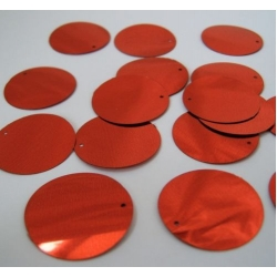 """Large Round Sequins 24mm (1"""") RED"""