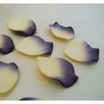 Embossed Paper Petals Confetti, Thick handmade papers PURPLE & CREAM Table dressing