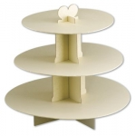 3 Tier CUPCAKE TREE/CAKE STAND. Card. IVORY/CREAM