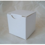 "Pack of 10. Cube Box. 1.5"" (38mm). White. One-piece"