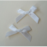 Ribbon Bows. 30mm Satin. NATURAL WHITE.  QTY: 24