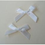 Ribbon Bows. 30mm Satin. NATURAL WHITE.  QTY: 24