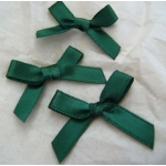 Ribbon Bows. 30mm Satin. RICH DARK GREEN.  QTY: 24