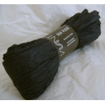 5m Supersoft Handmade PAPER RIBBON, Silk Plisse.  BLACK.