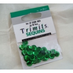 Pack of Cup Sequins 8mm GREEN, 160pces