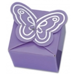 Pack of 10, Lilac and Silver Butterfly Favour Boxes