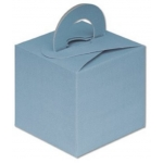 "Cube Box 2.5"" (65mm) BABY BLUE, SILK. Balloon Weight. One-Piece. QTY: 1"
