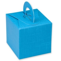 """Cube Box 2.5"""" (65mm) TURQUOISE, SILK. Balloon Weight. One-Piece. QTY: 1"""
