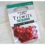 Pack of Cup Sequins 8mm RED. 160pces