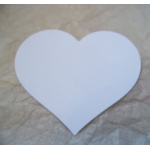 COUNTRY HEARTS 70mm.  Ideal Place cards. Can be hole punched.  WHITE. QTY: 20