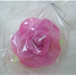 Scented FLOATING FLOWER CANDLE, Colour CERISE PINK