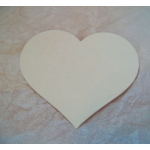 COUNTRY HEARTS 70mm.  Ideal Place cards. Can be hole punched.  CREAM. QTY: 20