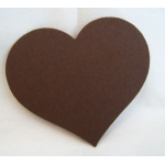 COUNTRY HEARTS 70mm.  Ideal Place cards. Can be hole punched.  CHOC BROWN. QTY: 20