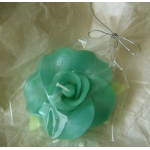 Scented FLOATING FLOWER CANDLE, Colour TEAL/ Green TURQUOISE
