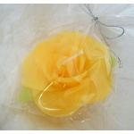 Scented FLOATING FLOWER CANDLE, Colour LEMON YELLOW