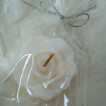Scented FLOATING FLOWER CANDLE, Colour WHITE