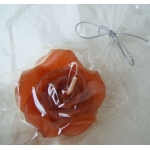 Scented FLOATING FLOWER CANDLE, colour BURNT TOFFEE