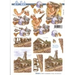 3D Decoupage Sheet,  COAL MINER