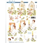 3D Decoupage Sheet.  COMMUNION CONFIRMATION boy & girl
