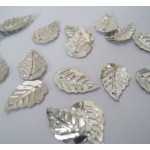 Mini Leaf Sequins SILVER. Sew, Craft, Table Confetti