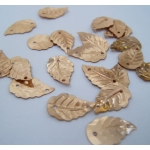 Mini Leaf Sequins PALE GOLD Craft, Sew, Table Confetti