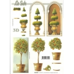 3D Decoupage Sheet.  TREE TOPIARY 416920