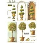 3D Decoupage Sheet.  TREE TOPIARY 416920