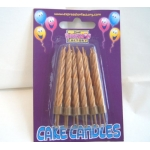 12 Cake Candles GOLD
