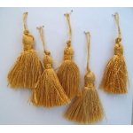 10 GOLD Key Tassels 60mm long