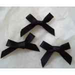 Ribbon Bows. 30mm Satin. BLACK.  QTY: 24