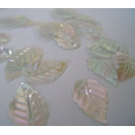 Mini Leaf Sequins TRANSPARENT Irridescent Sew, Craft. Table Confetti