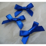 Ribbon Bows. 30mm Satin. ROYAL BLUE.  QTY: 24
