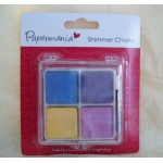 Papermania PRETTY PASTELS Blending Shimmer Chalks, 4 Colour Palette