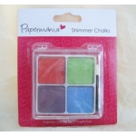 Papermania BRIGHTS Blending Shimmer Chalks, 4 Colour Palette