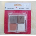 Papermania EARTHTONES Blending Shimmer Chalks, 4 Colour Palette