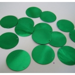 "Large Round Sequins 24mm (1"") GREEN"