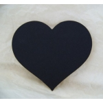 COUNTRY HEARTS 70mm.  Ideal Place cards. Can be hole punched.  BLACK. QTY: 20