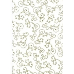 Patterned Vellum A4.  Beautiful Embossed Vine. GOLD.  QTY: 5