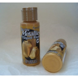 DecoArt Acrylic Paint.  59ml.  Dazzling Metallics.  SPLENDID GOLD