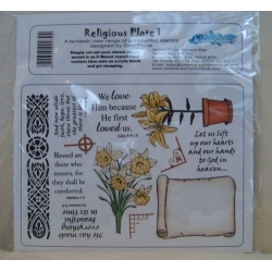 RELIGIOUS PLATE 1, Unmounted Rubber Stamp Set by Sam Poole RRP .£10.95