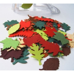 Mini Diecut LEAVES.  Autumn Mix.  3.5g pack