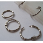Hinged Binding Rings. 19mm. Word Books, Scrapbooking. Swatches etc. QTY: 10