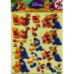 3D Die Cut Decoupage Sheet, Winnie The Pooh & Friends