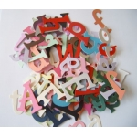 Random Mix Diecut LETTERS.  Approx 100. Card making, posters, Scrapping. Multi