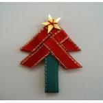 8 Handmade RED Ribbon Tree self-adhesive  Embellishments, 48mm