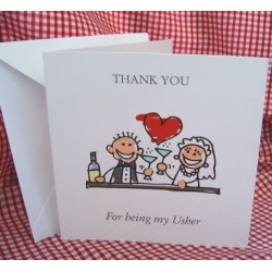 Thank you - USHER Card, with envelope. (#1) Can be personalised.