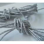by the Metre, STRETCH METALLIC CORD. 1mm thick. SILVER