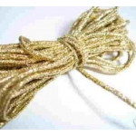 by the Metre, STRETCH METALLIC CORD. 1mm thick. GOLD