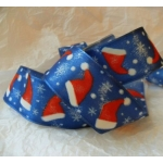 by the METRE. Wired CHRISTMAS Ribbon 40mm wide. SANTA HAT