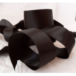 by the Metre BLACK SATIN Ribbon 25mm wide